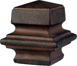 "Square Finial, fits 1"" Iron Rod"