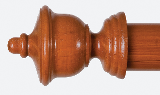 Bay Drapery Hardware LJB Wood Drapery Rod Finial