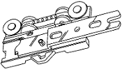 "Overlap Master Carrier, Right- fits 1-1/8"" H-Rail"