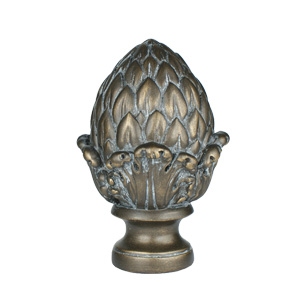 "Artichoke Finial, fits 1"" Iron Rod"